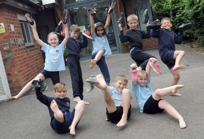 Pupils are ready to take up the barefoot challenge