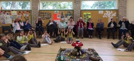 Visitors from Connecting Chelford were entertained by Chelford Brownies in October