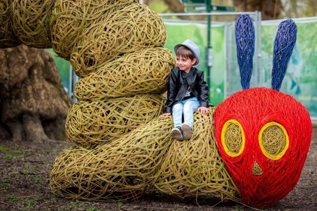 The show will feature a wicker sculpture of the Very Hungry Caterpillar