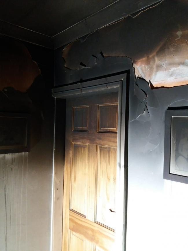 Pictures reveal why you should always close your doors at night. Credit: Cheshire Fire