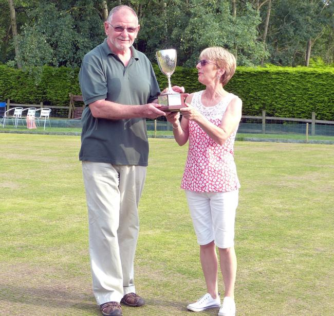 Church Inn members Alan Lace and Carole Critchley, the Knutsford Friday Bowling League's chairman, took the pairs title after winning four matches on a gruelling final day at Railway Inn