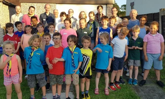 Cllr Andrew Malloy with 2nd Knutsford Scouts, Beavers and Cubs