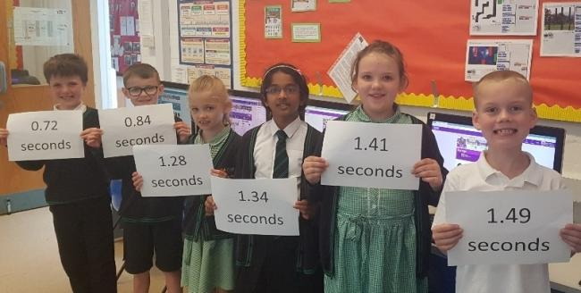 Pupils show their scores