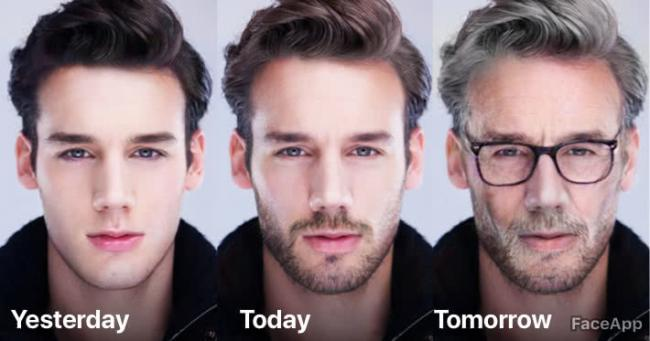 Should we be worried about trusting FaceApp with our selfies? Pic credit: FaceApp