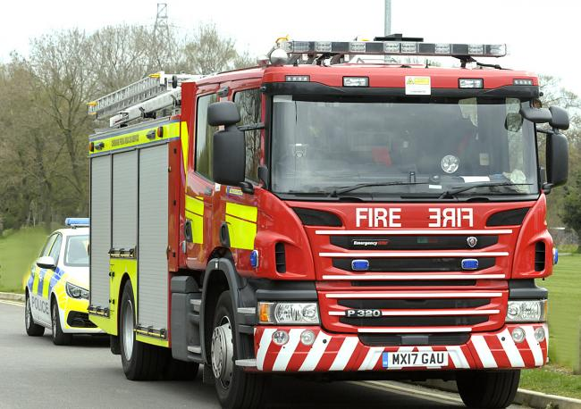 The fire started in a house on Alderley Road