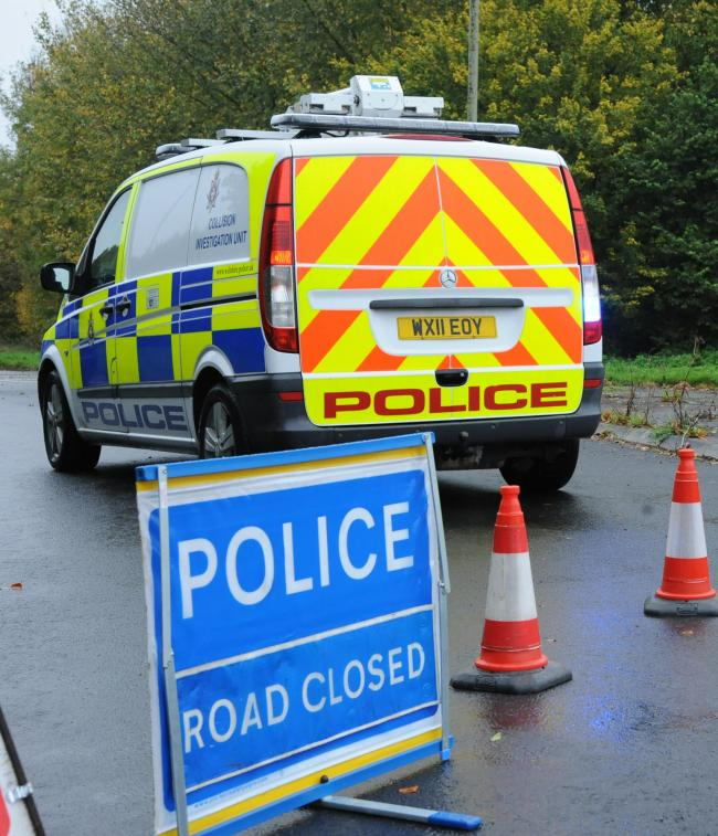 Roads closed police. stock pic on road closure.. Pics Trevor Porter 52047 3.