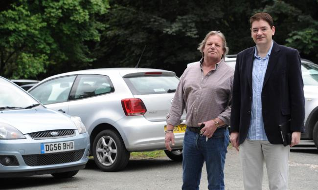 From left: Parish councillor Mike Taylorson and Cllr Craig Browne at Ryleys Lane car park, which could be expanded in the years to come