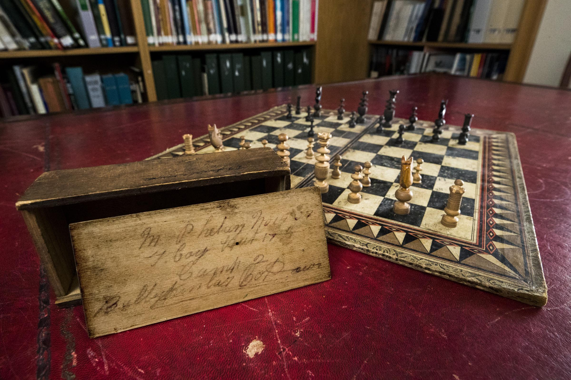 Century-old chess board belonging to Martin Sheen's family to go on