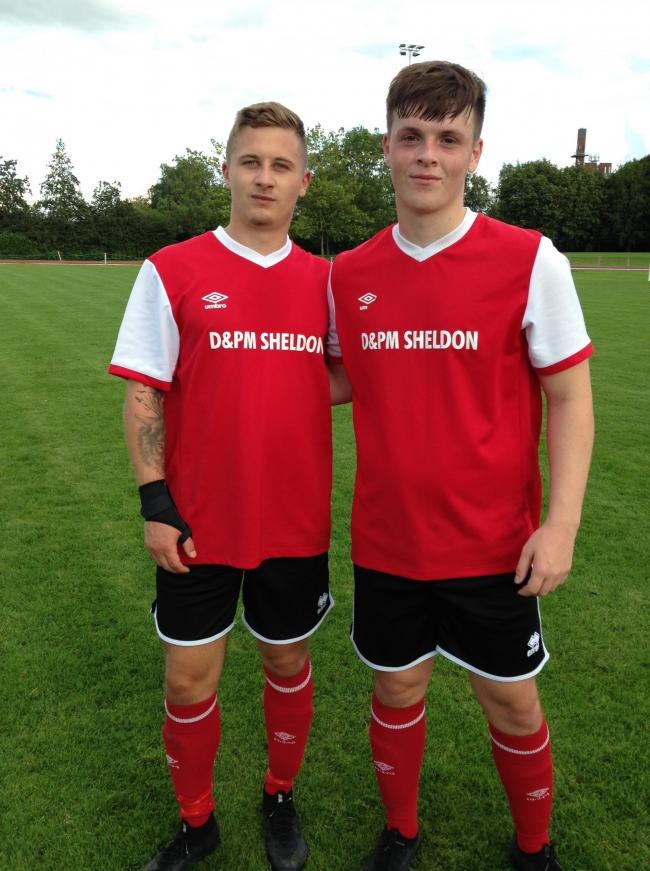 Makeshift striker Barney Wynne, left, scored twice against Crewe FC while 18-year-old Bradley Warren, right, impressed on debut having signed from Winsford United