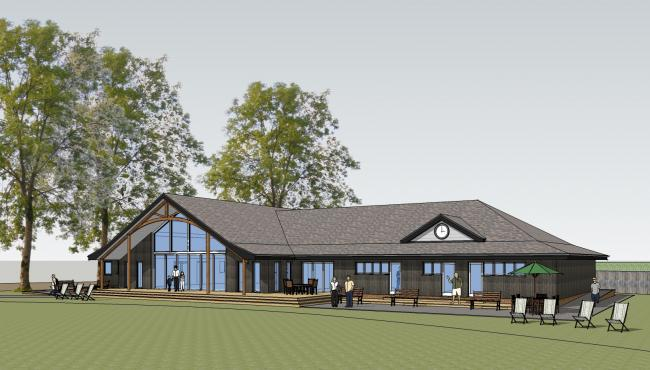 An illustration of the new pavilion