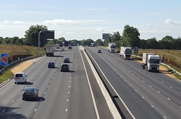 The M6 upgrade between Crewe and Knutsford was completed in March