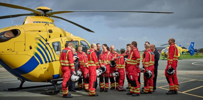 North West Air Ambulance Charity crew members