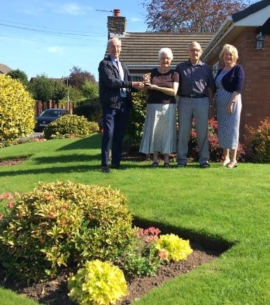 Front garden winners, from left, Cllr Michael Street, Pauline Horne, Dean Johnson, Cllr Patricia Street
