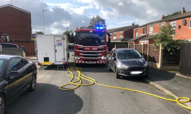 Fire engines found their route to the house blocked by parked cars