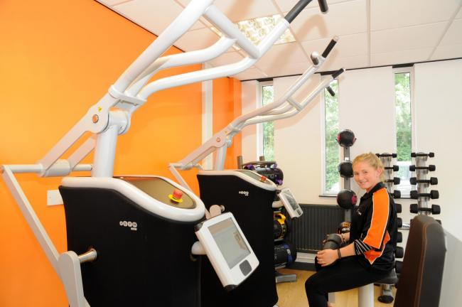 Sophie Mitchell, gym instructor at Knutsford Leisure Centre, which welcomed new gym equipment in 2017