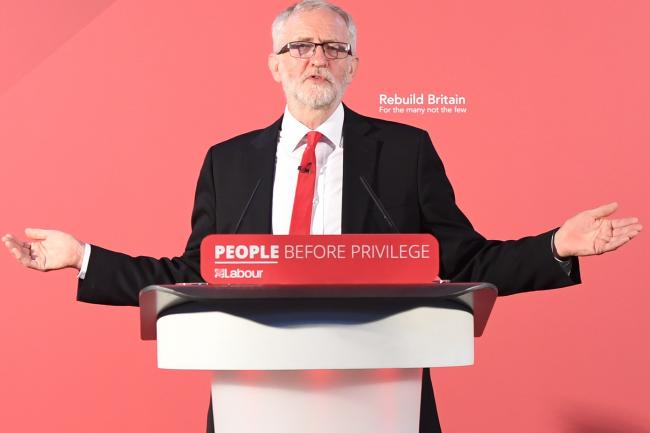 Jeremy Corbyn gives a speech setting out the policy priorities of a Labour government