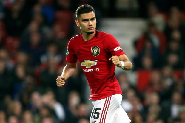 Andreas Pereira has played eight times for United this season