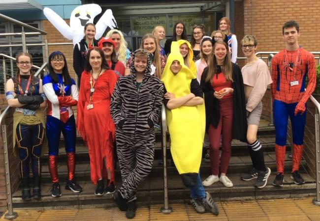 Sixth formers show off their fancy dress costumes