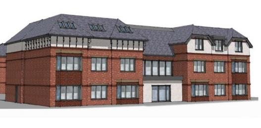An illustration of the proposed care home