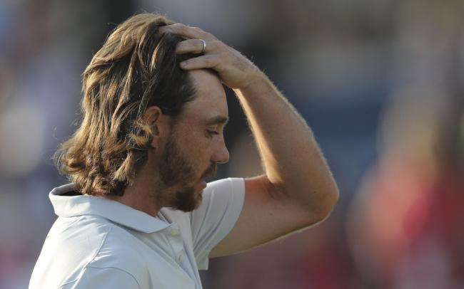 Tommy Fleetwood after being pipped at the post by Jon Rahm at the DP World Tour Championship in Dubai