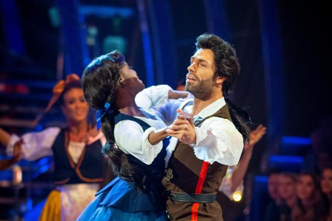 Kelvin Fletcher and Oti Mabuse