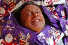 Actor John Thomson, a patron of CAFT, supporting the selection box appeal