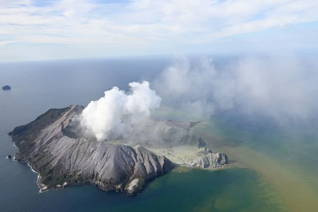 White Island erupted on Mon