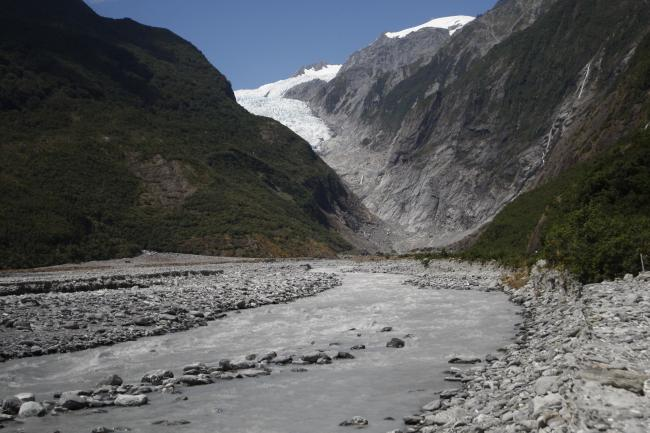 The Franz Josef Glacier in New Zealand