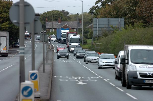 Severe congestion expected on A556