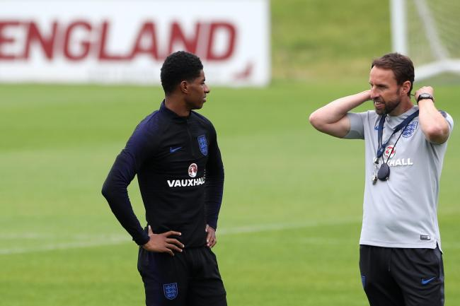 Gareth Southgate (right) and Marcus Rashford