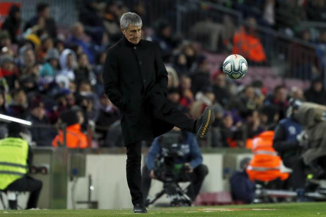 Quique Setien started his Barca tenure with a win