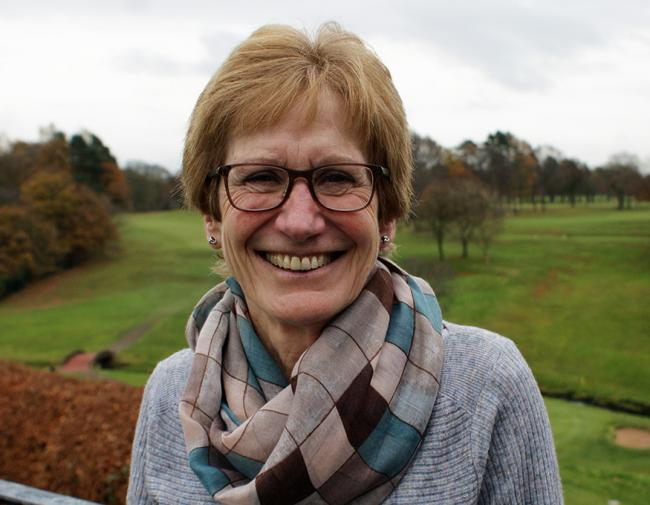 Sue Milroy, president of the Manchester and District Ladies Golf Association this year.