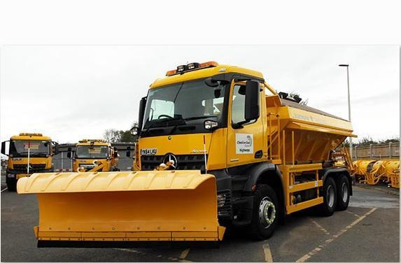 A Cheshire East Council gritter