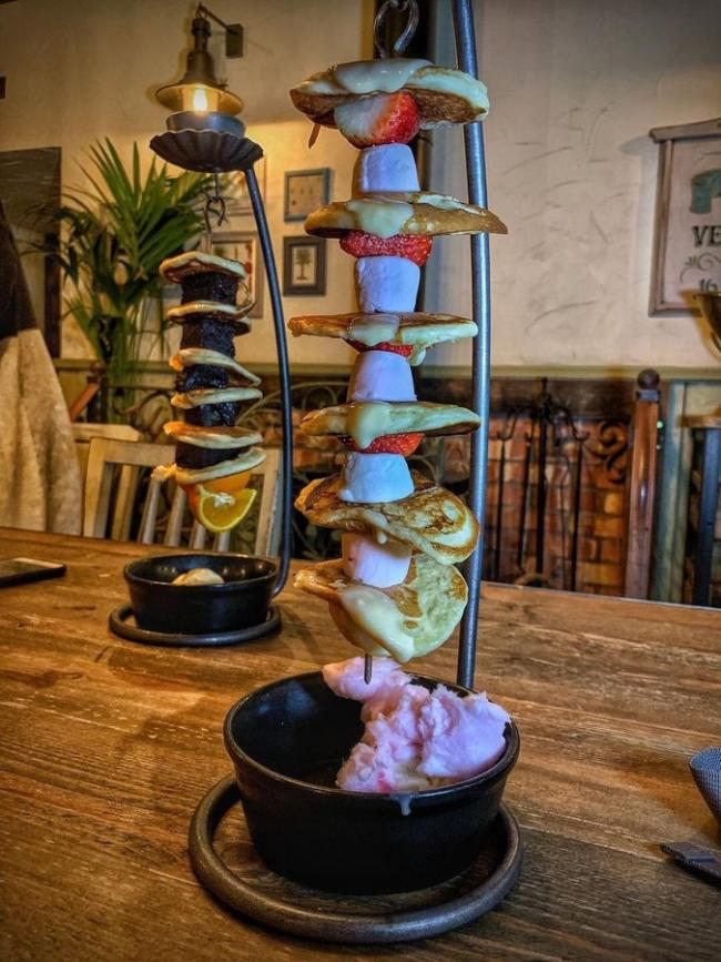 The pancake hanging kebab is coming to Warrington...but you haven't got long to try it