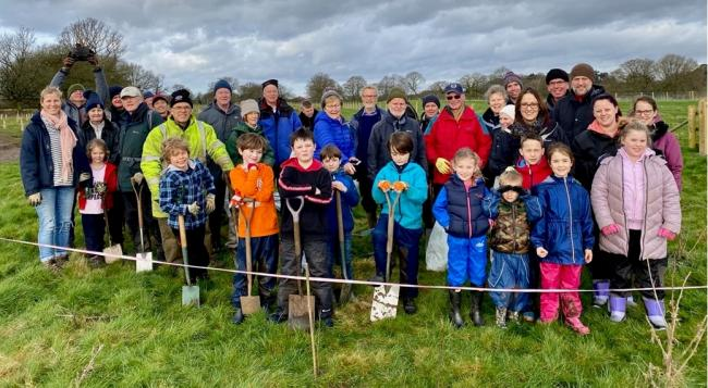 The tree planting team