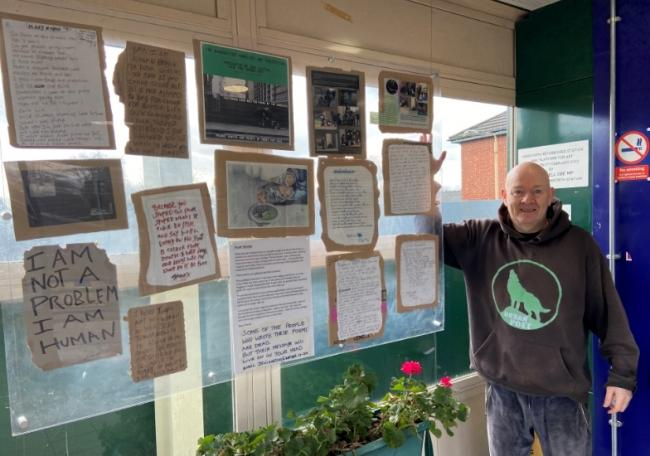 Ged Austin with the main display