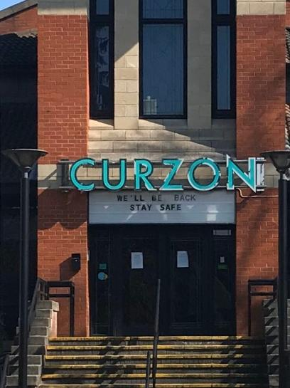 'We'll be back - stay safe,' says Curzon Knutsford in message of hope