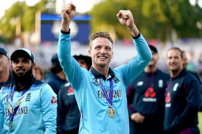 Jos Buttler is auctioning the shirt he wore during last summer's World Cup final to raise funds for the fight against coronavirus