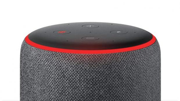 Knutsford Guardian: A red light ring means the Echo's microphones are turned off, and Alexa can't hear your conversations. Credit: Amazon