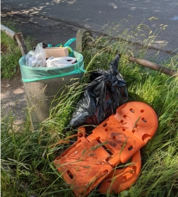 Some of the litter collected. Pictures courtesy of Friends of the Heath