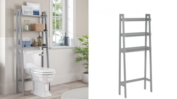 Knutsford Guardian: Over-the-toilet units provide a lot more storage space. Credit: Wayfair