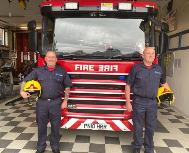 Firefighters Dave Short and Andy Bennett
