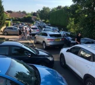 Parking congestion caused by lake visitors