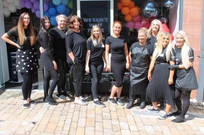 The Toni and Guy team, with Ann-Marie Baker third from right