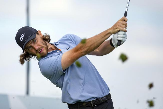Tommy Fleetwood tees off on the fourth hole of the PGA 3M Open in Blaine, Minnesota. Picture: PA Wire/AP Photo/Andy Clayton- King)