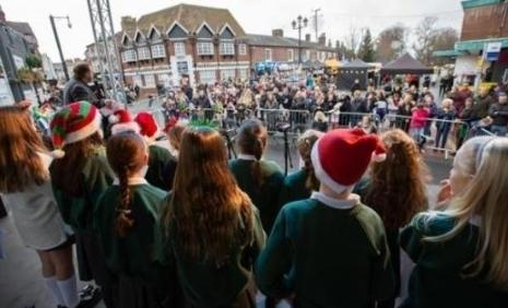 Children at a previous festive lights switch-on