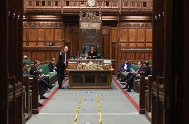 MPs debate the curfew in the House of Commons. Image: Jessica Taylor/PA