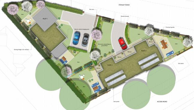 An artist's impression of the scheme from above