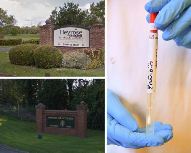 Heyrose and Sandiway golf clubs are disappointed at the lockdown decision. Images: Google Maps