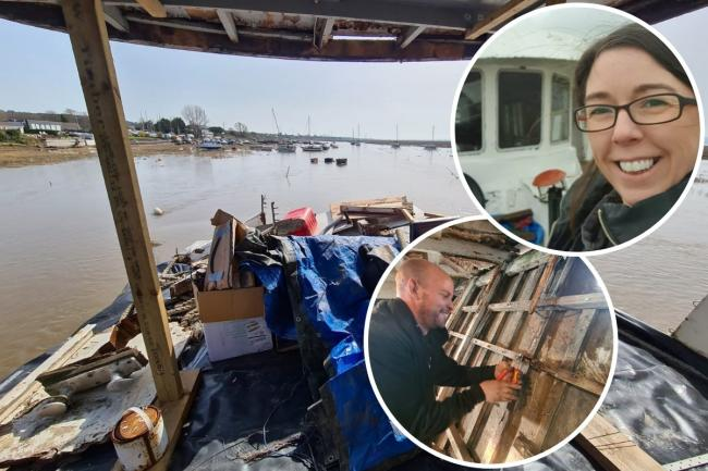The Robins family from Wrexham are restoring a WW2 warship